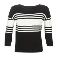 Textil Mulher camisolas Guess VIOLANTE Preto / Branco