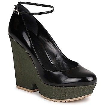 Sapatos Mulher Escarpim Sonia Rykiel LOCK Preto / Verde