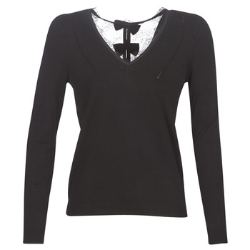 Textil Mulher camisolas Naf Naf MITOU LONG NEW Preto