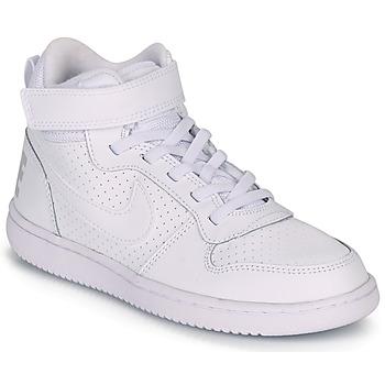 Sapatos Criança Sapatilhas de cano-alto Nike COURT BOROUGH MID PRE-SCHOOL Branco