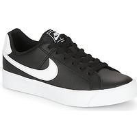 Sapatos Mulher Sapatilhas Nike COURT ROYALE AC W Preto / Branco