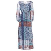 Textil Mulher Vestidos compridos Cream SAMA Azul / Castanho