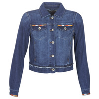 Textil Mulher casacos de ganga Cream DIWA Azul