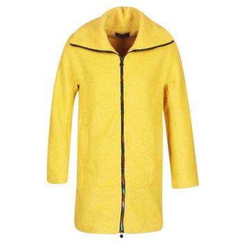 Textil Mulher Casacos Desigual LAND Amarelo