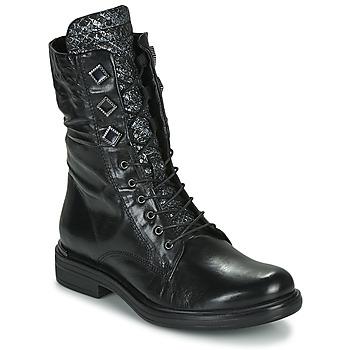Sapatos Mulher Botas baixas Mjus CAFE METAL Preto