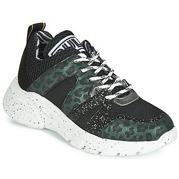 Sapatos Mulher Sapatilhas Meline LETTE Preto / Verde