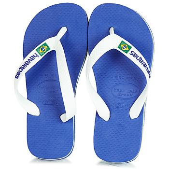 Sapatos Criança Chinelos Havaianas BRASIL LOGO Marinho