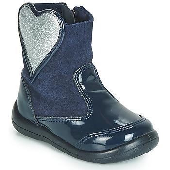 Sapatos Rapariga Botas baixas Gioseppo BUCKLAND Marinho / Prata