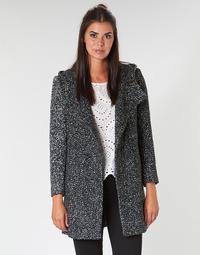 Textil Mulher Casacos Casual Attitude LOUA Cinza / Preto