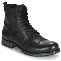 Sapatos Homem Botas baixas Jack & Jones JFW RUSSEL LEATHER Preto