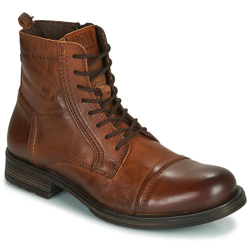 Sapatos Homem Botas baixas Jack & Jones JFW RUSSEL LEATHER Conhaque