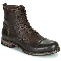 Sapatos Homem Botas baixas Jack & Jones JFW RUSSEL LEATHER Castanho