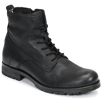 Sapatos Homem Botas baixas Jack & Jones JFW ORCA LEATHER Preto