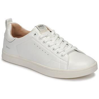 Sapatos Mulher Sapatilhas Only SHILO PU Branco / Prata