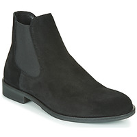 Sapatos Homem Botas baixas Selected LOUIS SUEDE CHELSEA Preto