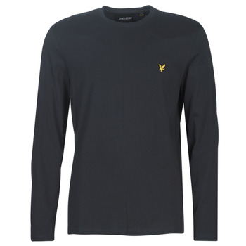 Textil Homem T-shirt mangas compridas Lyle & Scott TS512V-574 Preto