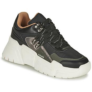 Sapatos Mulher Sapatilhas Victoria TOTEM NYLON Preto