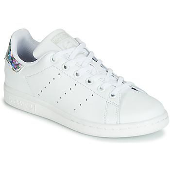 Sapatos Rapariga Sapatilhas adidas Originals STAN SMITH J Branco / Prata
