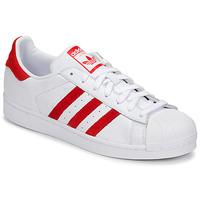 Sapatos Sapatilhas adidas Originals SUPERSTAR Branco / Vermelho