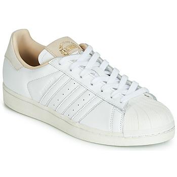 Sapatos Sapatilhas adidas Originals SUPERSTAR Branco / Bege