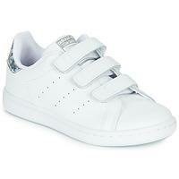 Sapatos Rapariga Sapatilhas adidas Originals STAN SMITH CF C Branco / Prateado