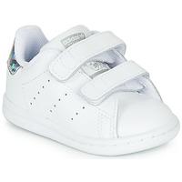 Sapatos Rapariga Sapatilhas adidas Originals STAN SMITH CF I Branco / Prateado