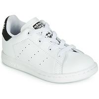 Sapatos Criança Sapatilhas adidas Originals STAN SMITH EL I Branco / Preto