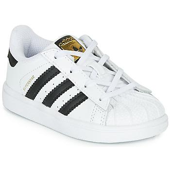 Sapatos Criança Sapatilhas adidas Originals SUPERSTAR I Branco / Preto
