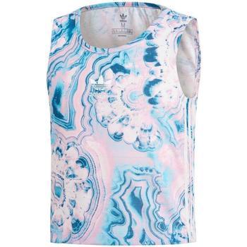 Textil Rapariga Tops sem mangas Adidas Kids MARBLE CRP TANK azul