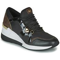 Sapatos Mulher Sapatilhas MICHAEL Michael Kors LIV TRAINER Preto / Castanho