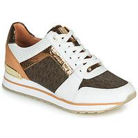 Sapatos Mulher Sapatilhas MICHAEL Michael Kors BILLIE TRAINER Branco / Castanho