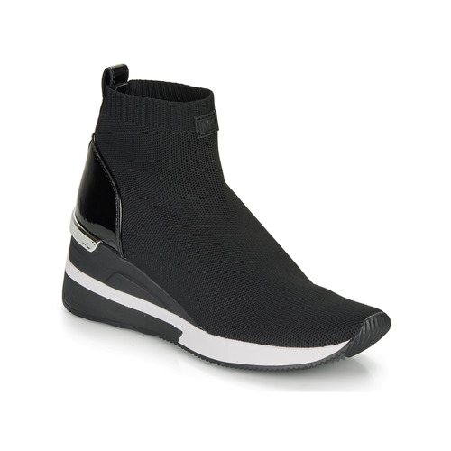 Sapatos Mulher Sapatilhas de cano-alto MICHAEL Michael Kors SKYLER Preto