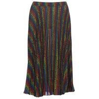 Textil Mulher Saias MICHAEL Michael Kors MULTI LOGO PLEAT SKRT Multicolor