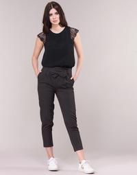 Textil Mulher Calças Betty London LAALIA Preto / Branco