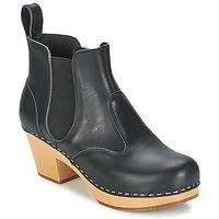 Sapatos Mulher Botins Swedish hasbeens CHELSEA Preto
