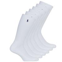 Acessórios Homem Meias Polo Ralph Lauren ASX110 6PK CR PP-CREW-6 PACK Branco
