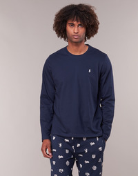 Textil Homem T-shirt mangas compridas Polo Ralph Lauren L/S CREW-CREW-SLEEP TOP Marinho