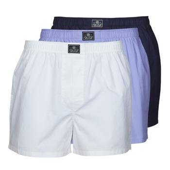Roupa de interior Homem Boxer Polo Ralph Lauren OPEN BOXER-3 PACK-BOXER Branco / Azul / Marinho