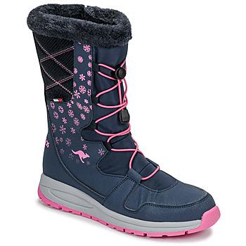 Sapatos Mulher Botas de neve Kangaroos K-GLAZE RTX Marinho / Rosa