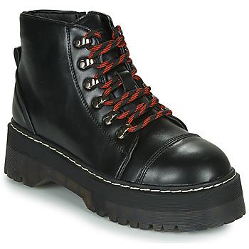 Sapatos Mulher Botas baixas Coolway ABLIS Preto / Vermelho