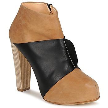 Sapatos Mulher Botas baixas Terhi Polkki EINY Bege / Preto