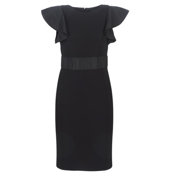 Textil Mulher Vestidos curtos Lauren Ralph Lauren JERSEY SLEEVELESS COCKTAIL DRESS Preto