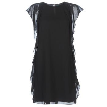 Textil Mulher Vestidos curtos Lauren Ralph Lauren RUFFLED GEORGETTE DRESS Preto