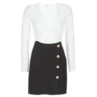 Textil Mulher Vestidos curtos Moony Mood LUCE Preto / Branco