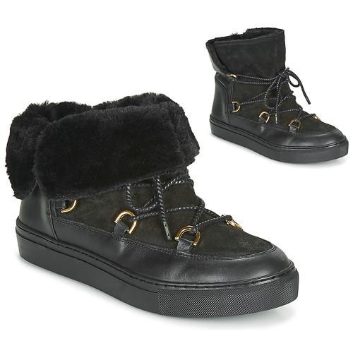 Sapatos Mulher Botas de neve Casual Attitude LONE Preto