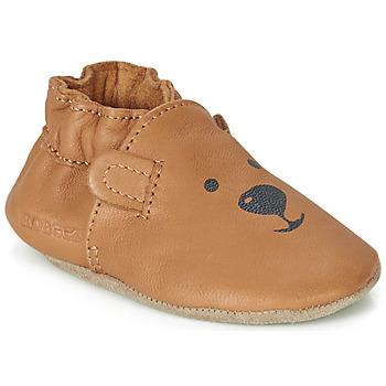Sapatos Criança Pantufas bebé Robeez SWEETY BEAR Camel