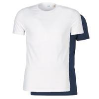 Textil Homem T-Shirt mangas curtas Levi's SLIM 2PK CREWNECK 1 Marinho / Branco