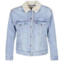 Textil Mulher casacos de ganga Levi's EX-BF SHERPA TRUCKER Azul