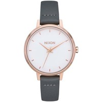 Relógios Relógios Analógicos Nixon Reloj  Medium Kensington Leather cinza