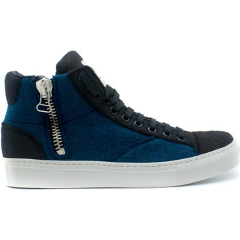 Sapatos Sapatilhas de cano-alto Nae Vegan Shoes Milan Pet Blue azul